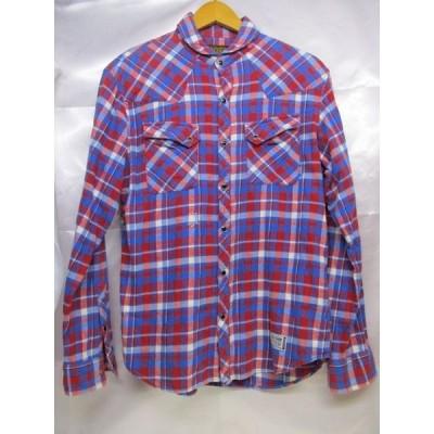 NEIGHBOR HOOD ネイバーフッド チェックシャツ サイズS レッド×ブルー ウエスタンシャツ メンズ