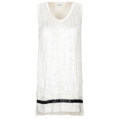 アーヴィーウ AVIÙ ミニワンピース&ドレス アイボリー 44 ポリエステル 100% ミニワンピース&ドレス