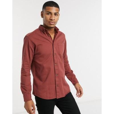 オンリーアンドサンズ ワークシャツ メンズ Only & Sons overshirt with pocket in washed red エイソス ASOS