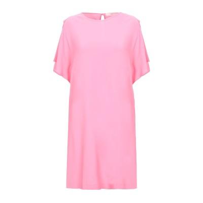 SUOLI ミニワンピース&ドレス ピンク 42 レーヨン 95% / ポリウレタン 5% ミニワンピース&ドレス