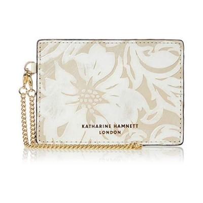 [キャサリンハムネット ロンドン] 財布 パスケース 定期入れ チェーン付き ナデシコ KHP430 アイボリー