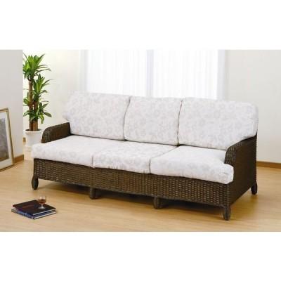 丹念に編み込まれた美しいラタンが軽快な雰囲気を作り出しお部屋に圧迫感を感じさせないシンプルなデザインです。 3Pソファー