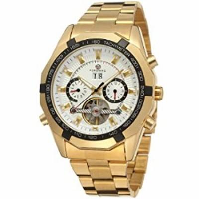 腕時計  FORSININGメンズ自動機械透明クリスタルTourbillon腕時計 カラーホワイトfsg340?m4g2