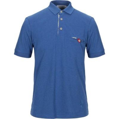トラサルディ TRUSSARDI メンズ ポロシャツ トップス polo shirt Pastel blue