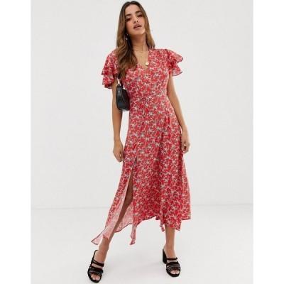 フレンチコネクション レディース ワンピース トップス French Connection Cerisier tea dress Flame multi