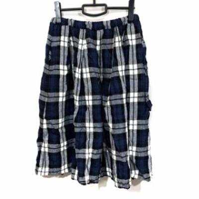 オニールオブダブリン O'NEILOFDUBLIN ロングスカート サイズ40 M レディース 美品 ブルー×マルチ チェック柄【中古】20210615