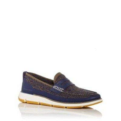 コールハーン メンズ スリッポン・ローファー シューズ Men's 4.ZEROGRAND Stitchlite Penny Loafers Marine Blue/ivory