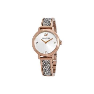 腕時計 スワロフスキー Swarovski Rock Bangle Crystal White Dial Ladies Watch 5376092