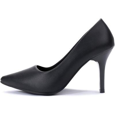 フェリシア フェリーチェ パンプス 黒 ヒール9cm ポインテッドトゥ パンプス 歩きやすい ハイヒール (ru-22) ブラック 25cm