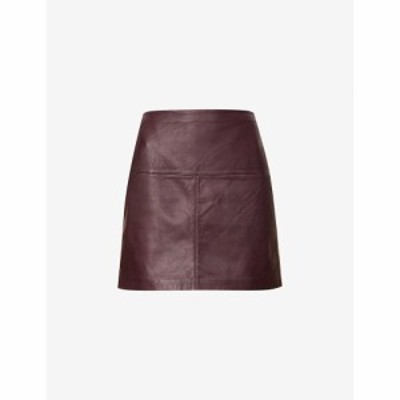 テッドベーカー TED BAKER レディース ミニスカート レザー スカート Valiat Leather Skirt WINE