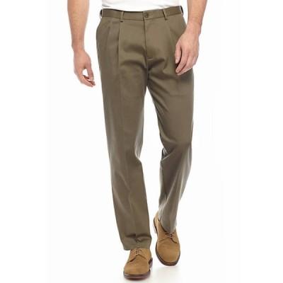 ハガー メンズ カジュアルパンツ ボトムス Big & Tall Premium Non Iron Classic Fit Pleat Pants