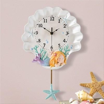壁掛け時計 おしゃれ クロック かけ時計 掛け時計 人魚姫