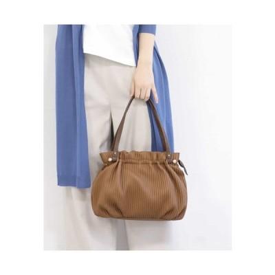 MK MICHEL KLEIN BAG / 【2WAY】ギャザーデザインエコレザーバッグ