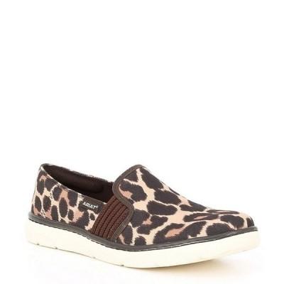 アリアト レディース スニーカー シューズ Ryder Leopard Print Fabric Slip On Shoes