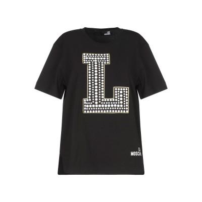 ラブ モスキーノ LOVE MOSCHINO T シャツ ブラック 40 コットン 94% / ポリウレタン 6% T シャツ