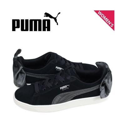 【スニークオンラインショップ】 プーマ PUMA スエード ボウ スニーカー レディース WMNS SUEDE BOW HEXAMESH ブラック 黒 36915104 レディース その他 22.5 SNEAK ONLINE SHOP