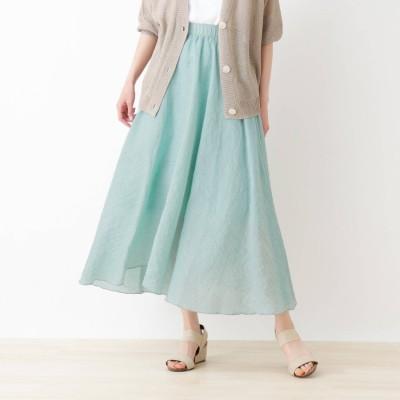 シューラルー SHOO-LA-RUE カラースカート (ライトグリーン)