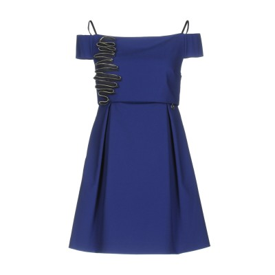 MANGANO ミニワンピース&ドレス ブルー 42 コットン 59% / ナイロン 37% / ポリウレタン 4% ミニワンピース&ドレス