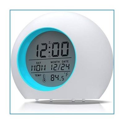 新品ANDATE 子供用目覚まし時計 7色 ナイトライト デジタル目覚まし時計 寝室用 温度検出 子供の目覚まし