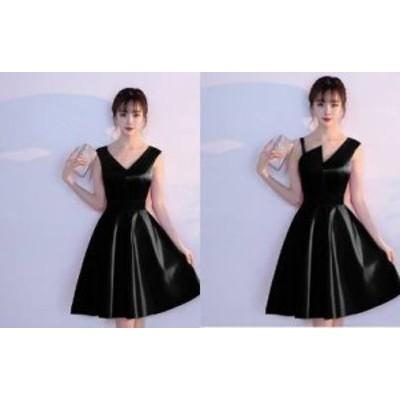 ノースリーブ パーティードレス 結婚式 二次会 お呼ばれ ワンピース お呼ばれドレス ドレス 20代 30代 40代 アシンメトリー