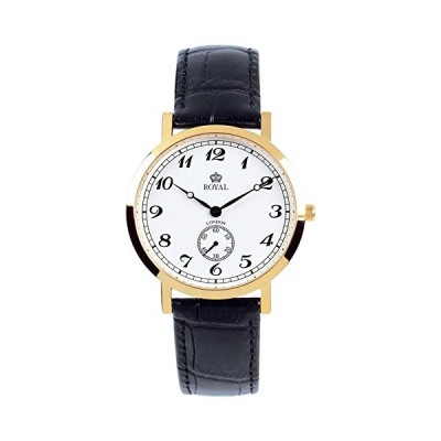 Royal London 40006-03 Mens Classic Black and Gold Watch 並行輸入品