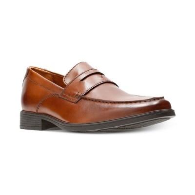 クラークス スリッポン・ローファー シューズ メンズ Men's Tilden Way Leather Penny Loafers Tan Leather