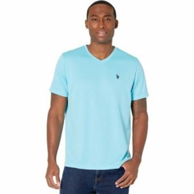 ユーエスポロアッスン U.S. POLO ASSN. メンズ Tシャツ Vネック トップス Performance V-Neck T-Shirt Horizon Blue