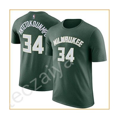 NBA Youth Performance Game Time Team Color Player Name and Number Jersey T-Shirt (Medium 10/12, Giannis Antetokounmpo)並行輸入品