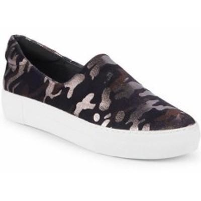 スポーツ用品 シューズ J/Slides Ariana Croc-Embossed Sneaker 7.5 Grey