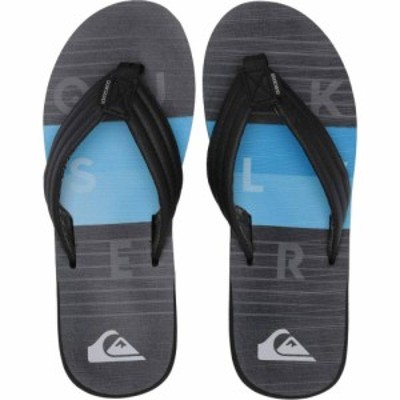 クイックシルバー Quiksilver メンズ ビーチサンダル シューズ・靴 Carver Print Black/Black/Blue