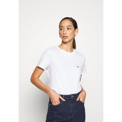 トミーヒルフィガー Tシャツ レディース トップス REGULAR C NECK - Basic T-shirt - white