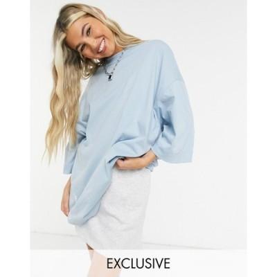 コルージョン レディース シャツ トップス COLLUSION oversized t-shirt in blue