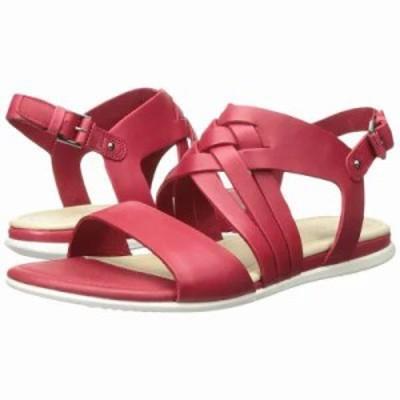 エコー サンダル・ミュール Touch Braided Sandal Chili Red Calf Leather