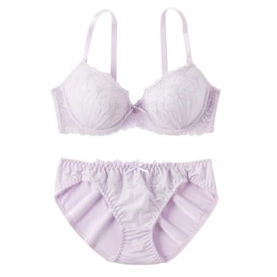 エレガントフェアーリルレース ブラジャー・ショーツセット(C65/M) (ブラジャー&ショーツセット)Bras & Panties