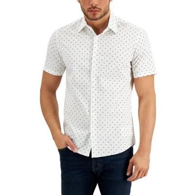 マイケルコース シャツ トップス メンズ Men's Regular-Fit Stretch Dot-Print Shirt White
