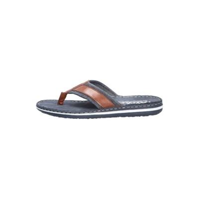 リーカー サンダル メンズ シューズ MODISCHE PANTOLETTE - T-bar sandals - peanutnavy (24)
