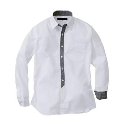 日本製前たてチェック柄切替長袖シャツ カジュアルシャツ, Shirts, テレワーク, 在宅, リモート
