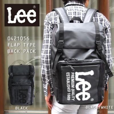 Lee リー リュック 黒 リュックサック バックパック バッグ ファスナー開閉 サイドポケット サイドファスナー ウレタンポケット B4入る
