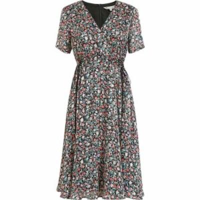 ユミ Yumi レディース ワンピース ラップドレス ワンピース・ドレス Black Ditsy Print Wrap Over Tie Detail Dress Black
