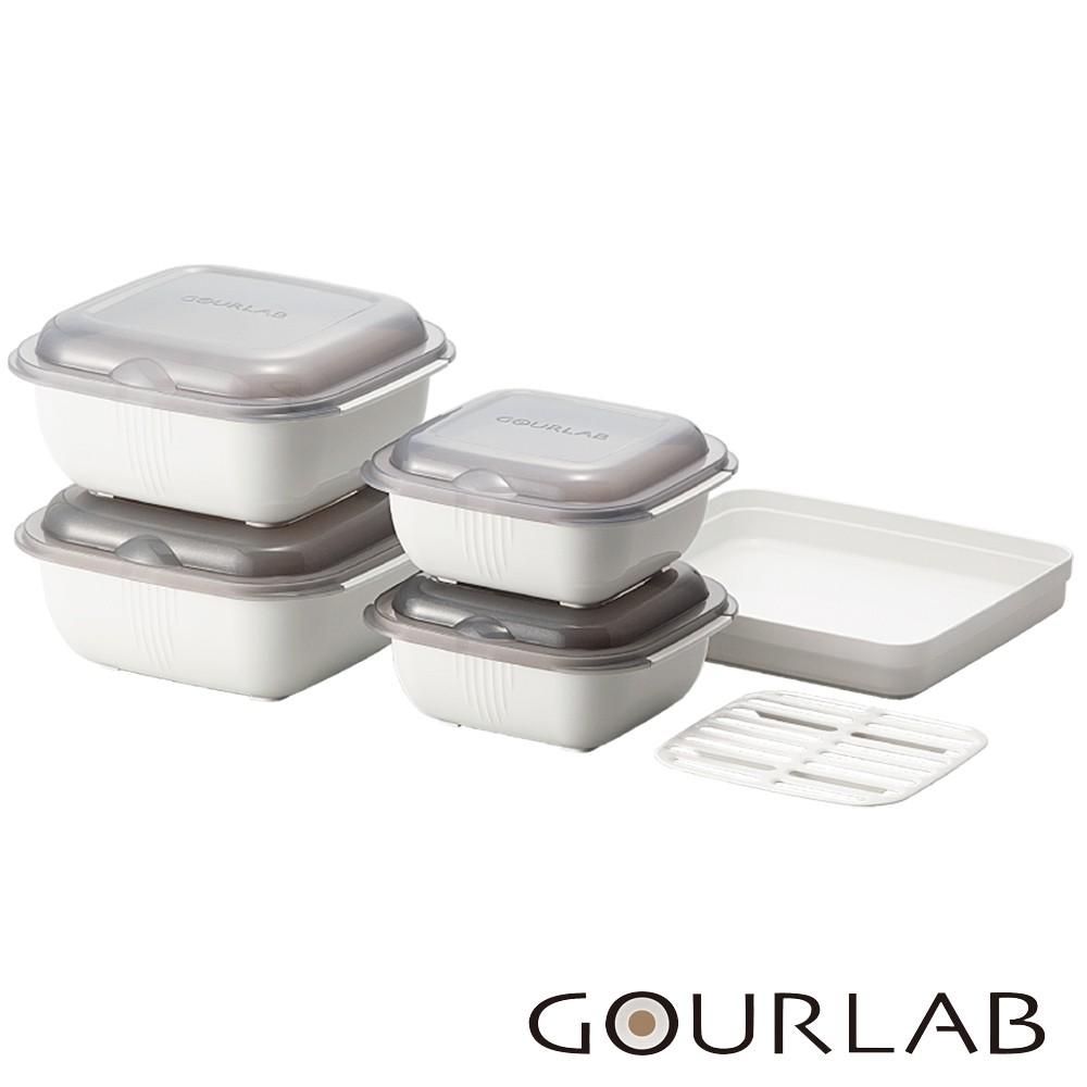 【 GOURLAB 】 GOURLAB 多功能烹調盒 保鮮盒系列 - 多功能六件組 (附中文食譜)