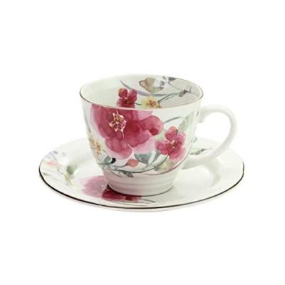 シュウメイ菊 花ものがたり 12ヶ月コーヒー碗皿 花水彩 コーヒー