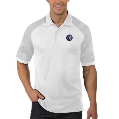 """メンズ ポロシャツ """"Minnesota Timberwolves"""" Antigua Engage Polo - White"""
