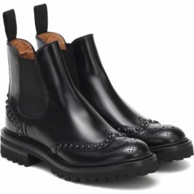 チャーチ Churchs レディース ブーツ チェルシーブーツ シューズ・靴 Elaine Leather Chelsea Boots Black