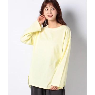 (koe/コエ)前後差ロングTシャツ/レディース イエロー