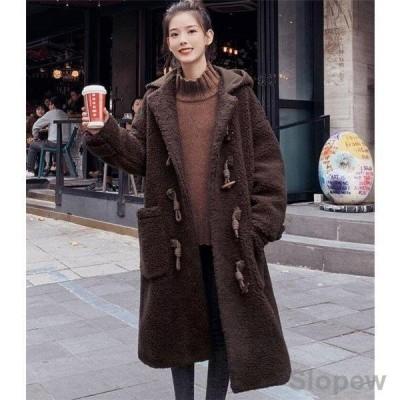 オーバーコート ロングコート レディース ボア 厚手 大きいサイズ アウター  冬 レディースファッション