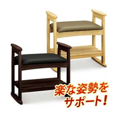 玄関椅子 高さ調節可能 玄関ベンチ 椅子 チェアー 肘付き 木製