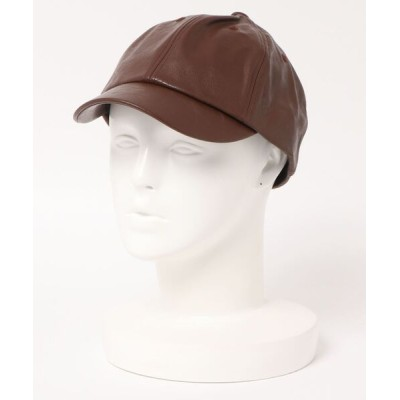 U.Q / フェイクレザーキャップ WOMEN 帽子 > キャップ