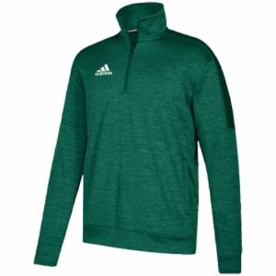アディダス adidas メンズ フィットネス・トレーニング トップス Team Issue Fleece 1/4 Zip Dark Green/White