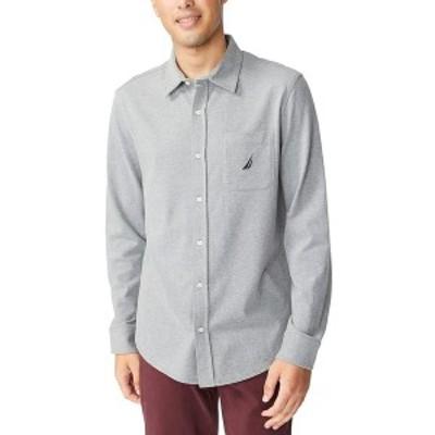 ナウティカ メンズ シャツ トップス Men's Classic-Fit Shirt Stone Grey Heather