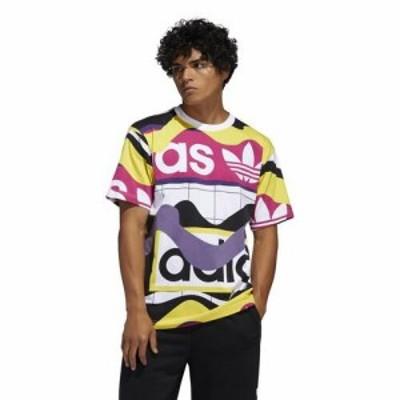 アディダス 半袖 Tシャツ メンズ ホワイト/ブラック/イエロー/パープル カタログ AOP ショートスリーブ Tシャツ Men's adidas Originals